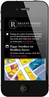 Regent Street Shopping App Home Page