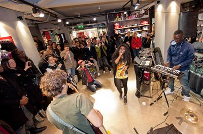 Live in store performance at Puma