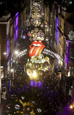 Carnaby Christmas Decorations co-designed by The Rolling Stones