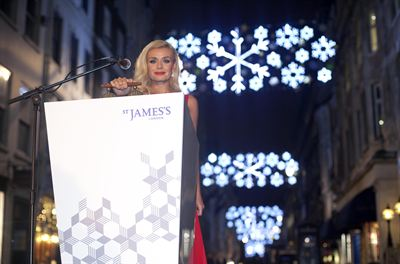 St James s Christmas Lights 2012 - Katherine Jenkins 4