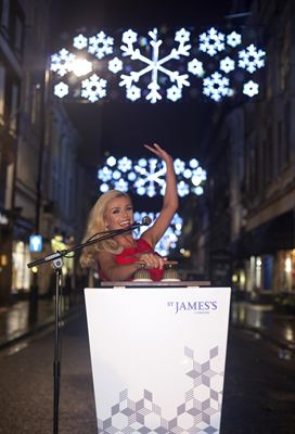 St James s Christmas Lights 2012 - Katherine Jenkins 1