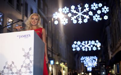 St James s Christmas Lights 2012 - Katherine Jenkins 3