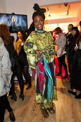 Shingai Shoniwa from The Noisettes at the launch of FASHTAG at the Carnaby Shopping Party London W1
