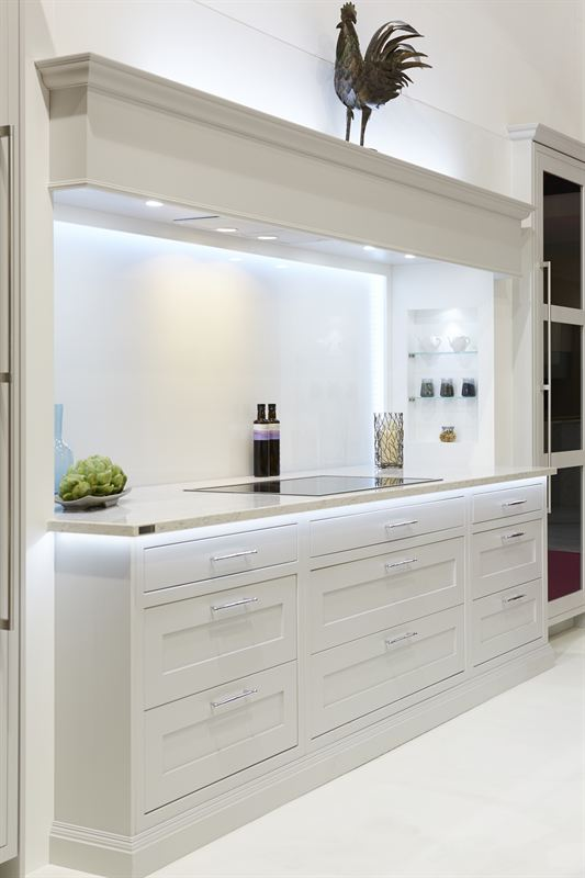 Knole ff dove grey white rainbow sparkle splashback ronin marketing - Grand design kitchens ...