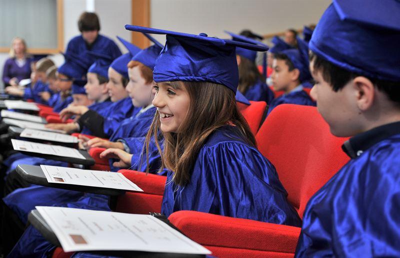 Kids gown up to graduate - Southampton Solent University