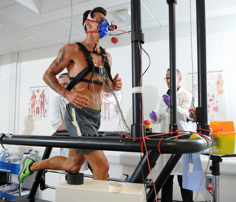 Stress Test Treadmill: Jose Fonte VO2 Max Fitness Testing At Southampton Solent
