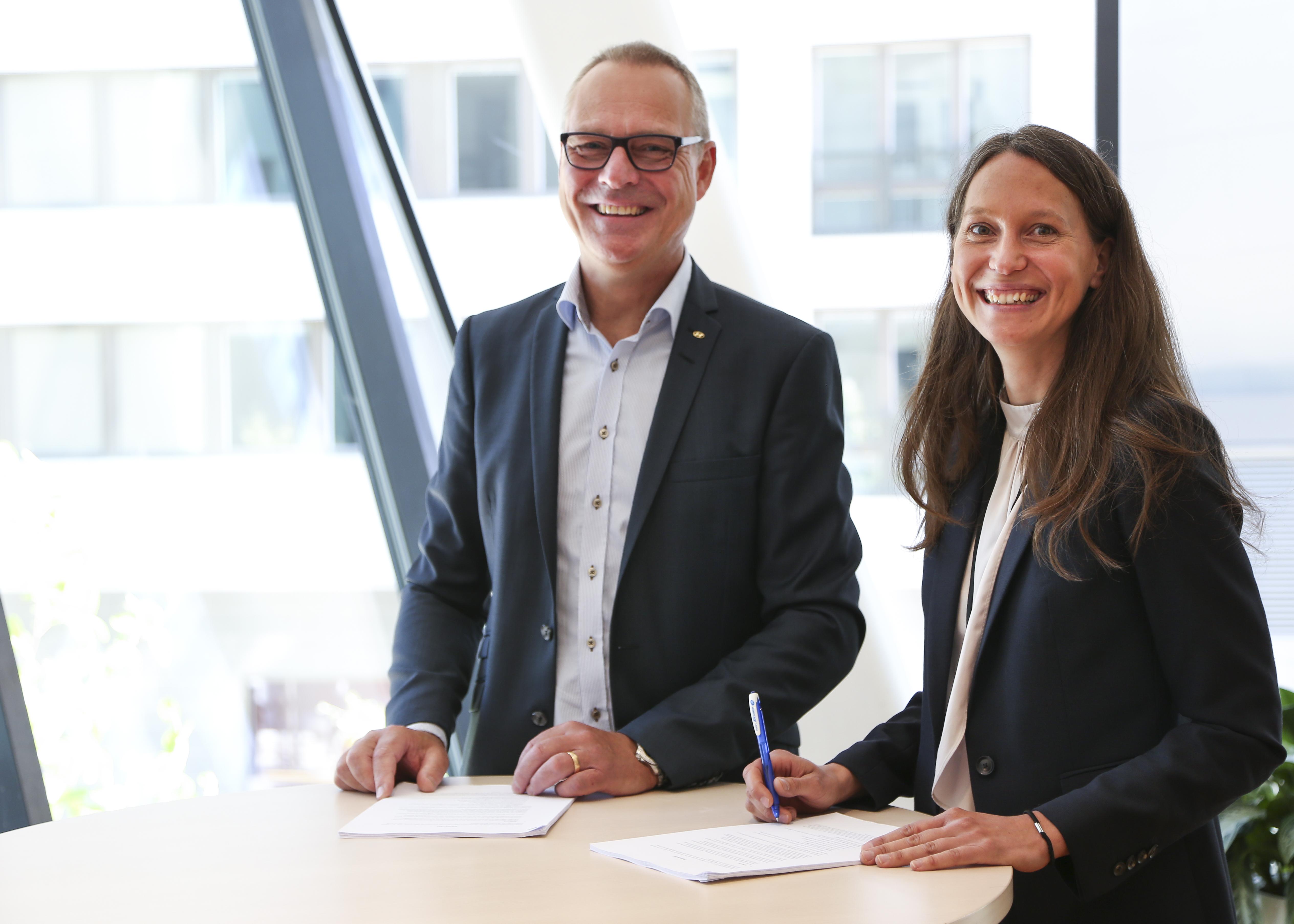 Ola Borgernäs, Hyundai, och Susanna Hurtig, Vattenfall