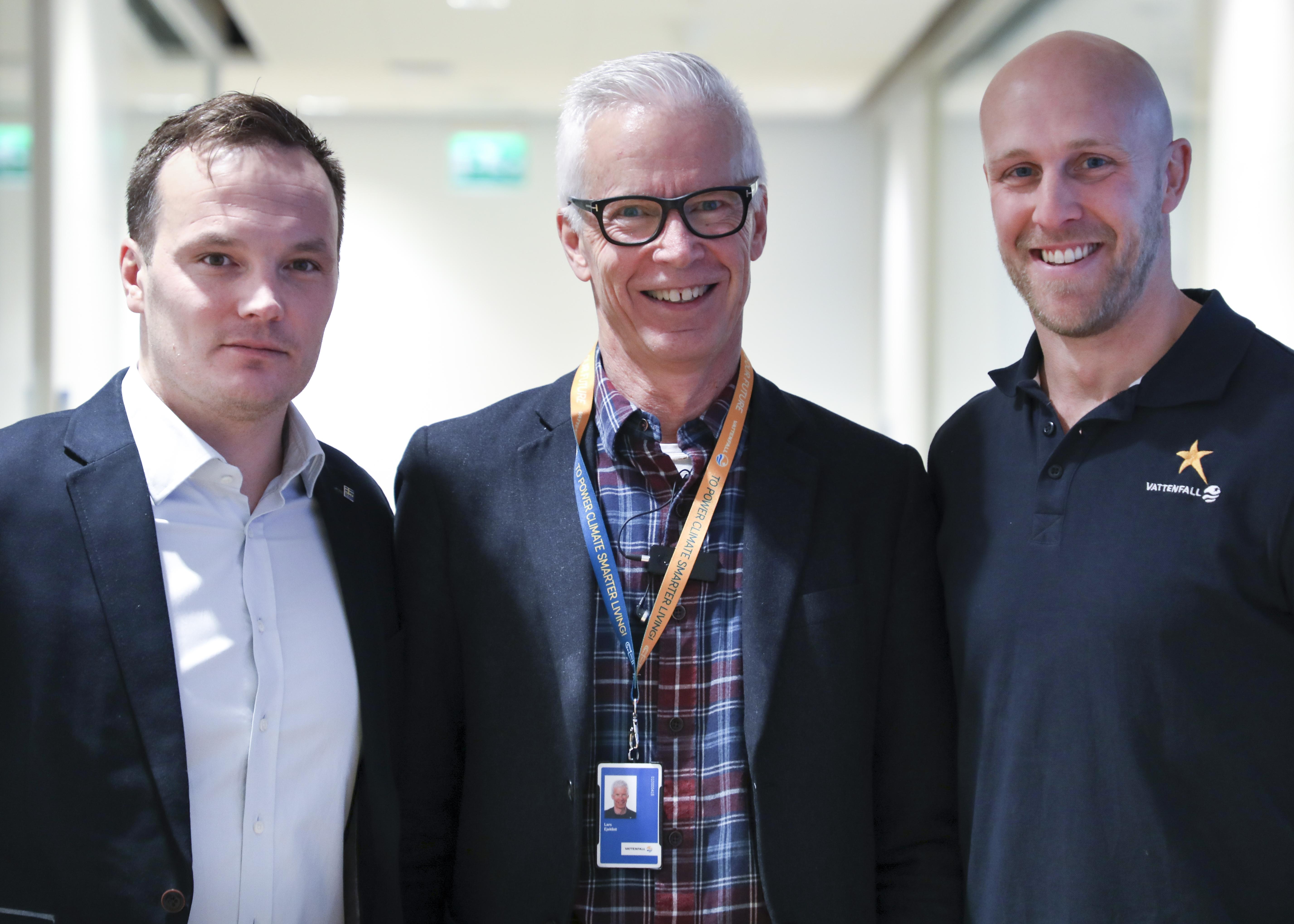 Tommy Eliasson Winter, Lasse Ejeklint, Kalle Olsson Bexell