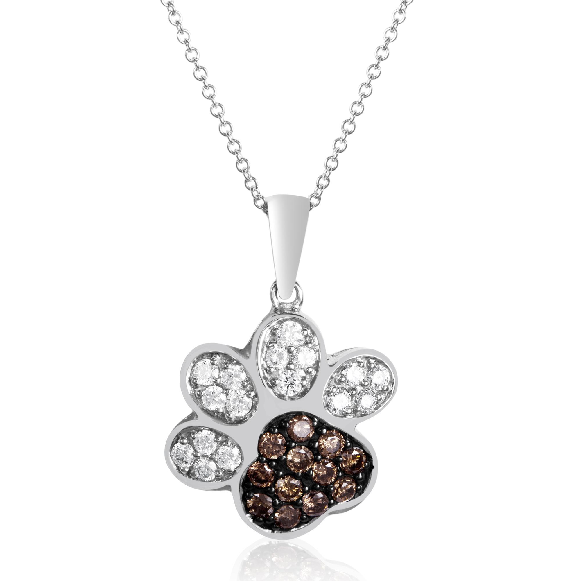 le vian chocolatier paw print pendant necklace le vian corp