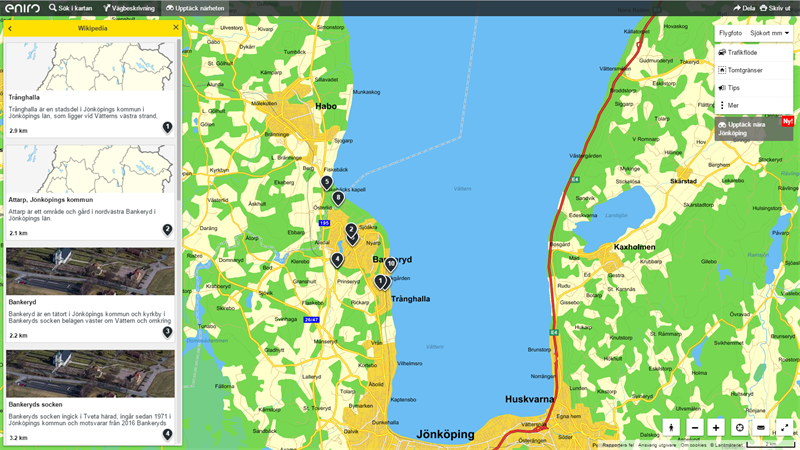 Eniro Enriches Search With Local Discovery Eniro - Map sweden eniro