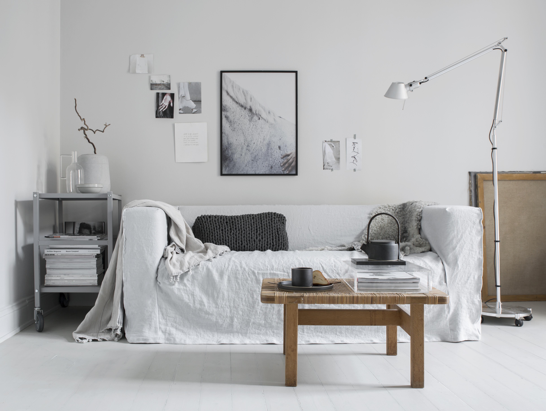 ikea klippan linen silver grey bemz bemz. Black Bedroom Furniture Sets. Home Design Ideas