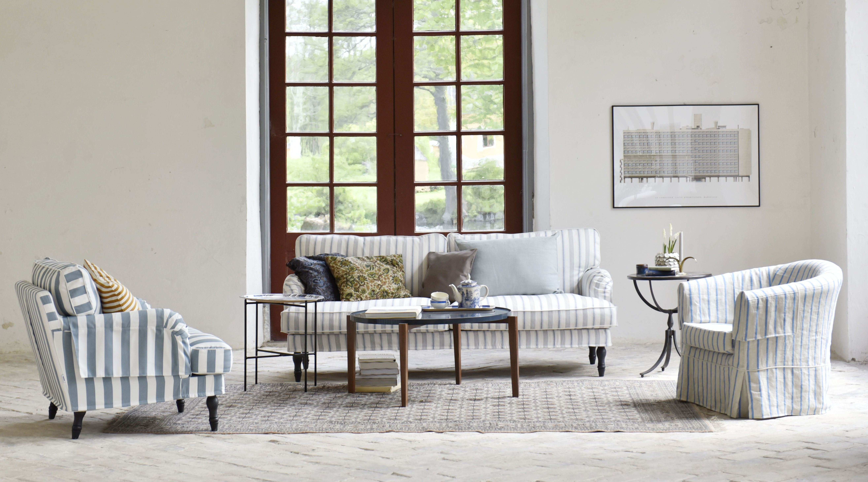 eggshell blue bolster stripe stocksund sofa bemz. Black Bedroom Furniture Sets. Home Design Ideas