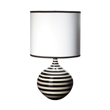 black and white striped porcelain table lamp from ls by lazy susan. Black Bedroom Furniture Sets. Home Design Ideas