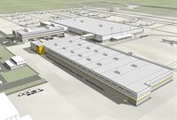DHL Express Americas announced today a $47 million expansion that will result in a new 193,000 square-foot sort facility (building in forefront) and will create approximately 280 new jobs over the next 12 months. 