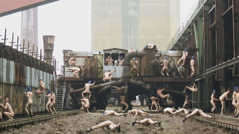 Naked Men Open Spring Exhibition 2012 at Charlottenborg in Copenhagen