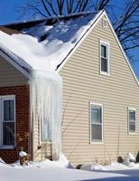 Inadequate insulation causes heat to escape from a house. Icicles form when this heat warms up a home's roof and melts the snow.
