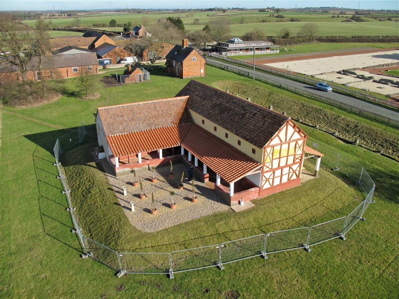 Aerial view of the roman town house english heritage for The view house