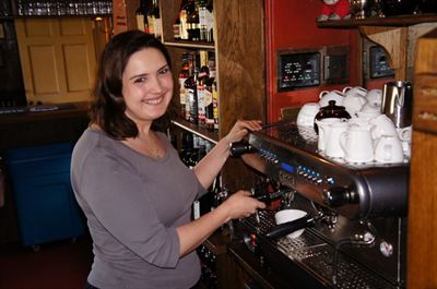 Simone Baker with Gunton Arms Gaggia
