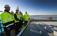 Topping out ceremony at Lympstone
