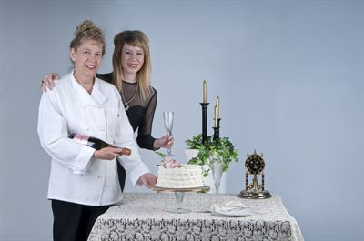 Chef Sheri Cahn of the Victorian Cake Company with daughter Jenni Cahn