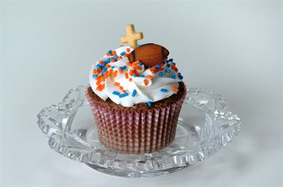 The Tebow Cupcake by Victorian Cake Company