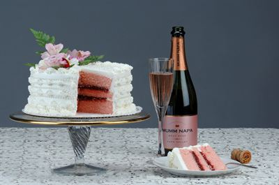 The Pink Champagne Cake from Victorian Cake Company