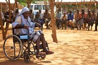 A disabled man in Dadaab camp, Kenya © B.Blondel/Handicap International