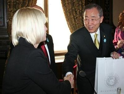 Jytte Guteland och Ban Ki-moon