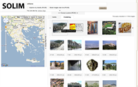 Solim Geographic Search Engine Screen Shot