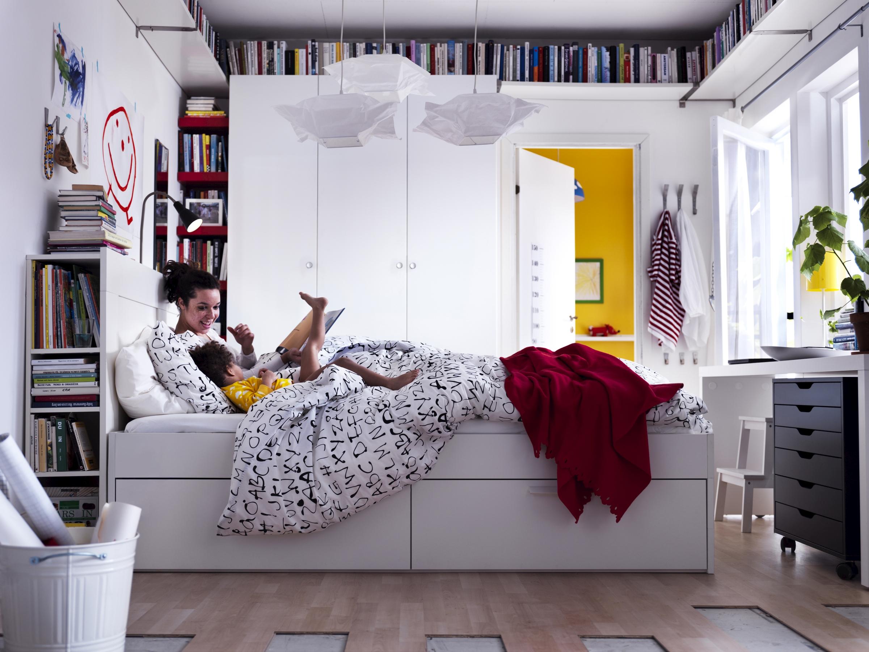 BRIMNES säng med förvaring IKEA Sverige