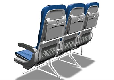 SAS' new seats, rear