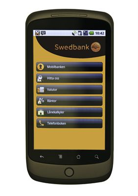 Swedbanks Android-applikation