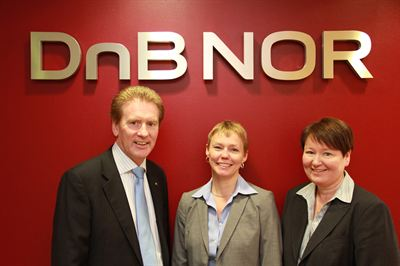 Left to right: Kendal Milne, head of Aberdeen, Trine Loe, head of London and Bente Fladmark, head of Nordic