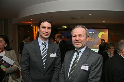 Trade attaché Dietmar Schwank and commercial counsellor Peter Sedlmayer, both with the Embassy of Austria in Stockholm.