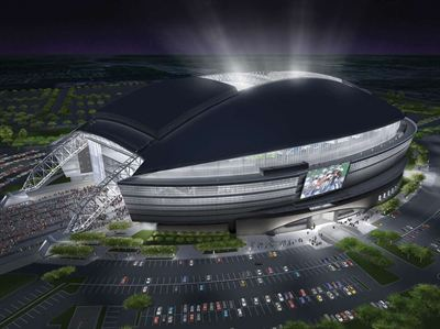 Cowboys Stadium rendering, courtesy of HKS