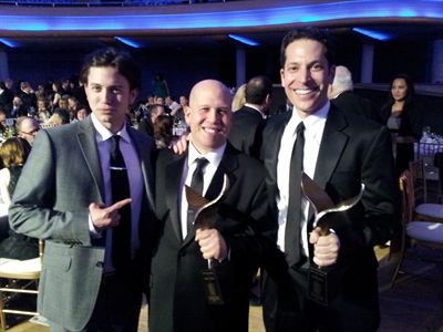 Jackson Rathbone, Heath Corson and  Richie Keen at WGA Awards