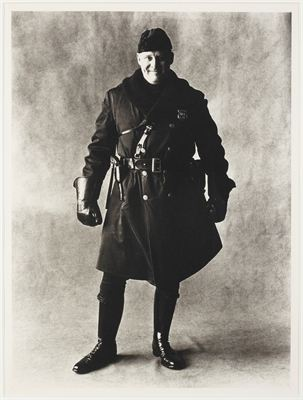 "Irving Penn:  ""Motorcycle policeman, New York, 1951"