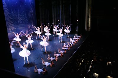 Snow Princesses performing in the Great Russian Nutcracker