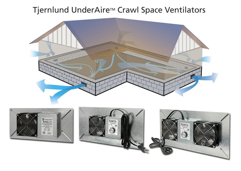 Crawl Space Ventilation Systems : Crawl space ventilation fans protect home structure and