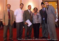 Rep. Keith Ellison (D-MN) and Rep. Sheila Jackson Lee (D-TX) with Ahmadiyya Muslim Community Leadership at the 9/11 Memorial Blood Drive at Capitol Hill