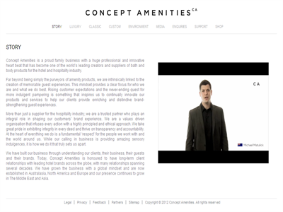 Concept Amenities CEO Michael Matulick featured on Company video