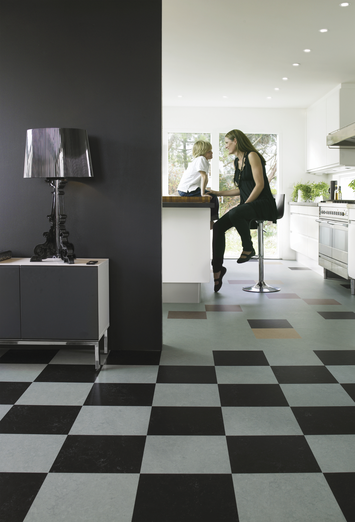 Marmoleum click black kitchen forbo flooring - Forbo marmoleum click ...