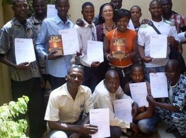 Catherine Remise (top row center) with Dianetics  Seminar students in Mali
