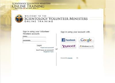 Using Facebook, Google, Yahoo or Windows Live accounts, the student can quickly log on to the course section at course.VolunteerMinisters.org to begin their training.