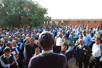 Students attend a Truth About Drugs drug education lecture at a school in Soweto, South Africa.