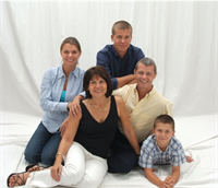 Patrick Valtin and wife Chantal, daughter Anne and sons Steve and Nathan.