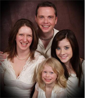 Scientologist Colleen May and family