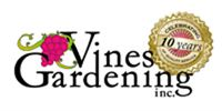 Vines Gardening 10th Anniversary Logo