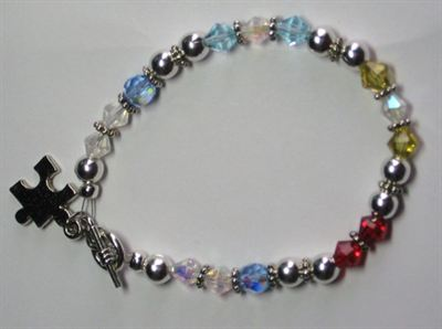 Multi-Colored Autism Bracelet