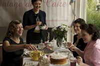 vintage tea party shot